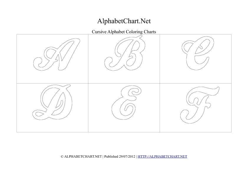 Cursive Writing Alphabet Chart