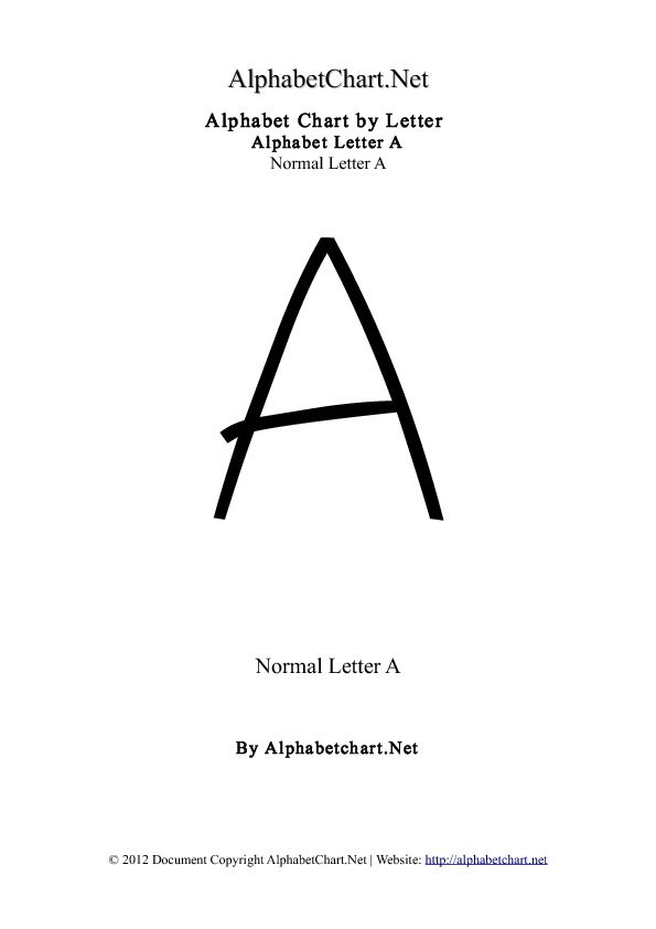 Alphabet A Letter Chart in pdf