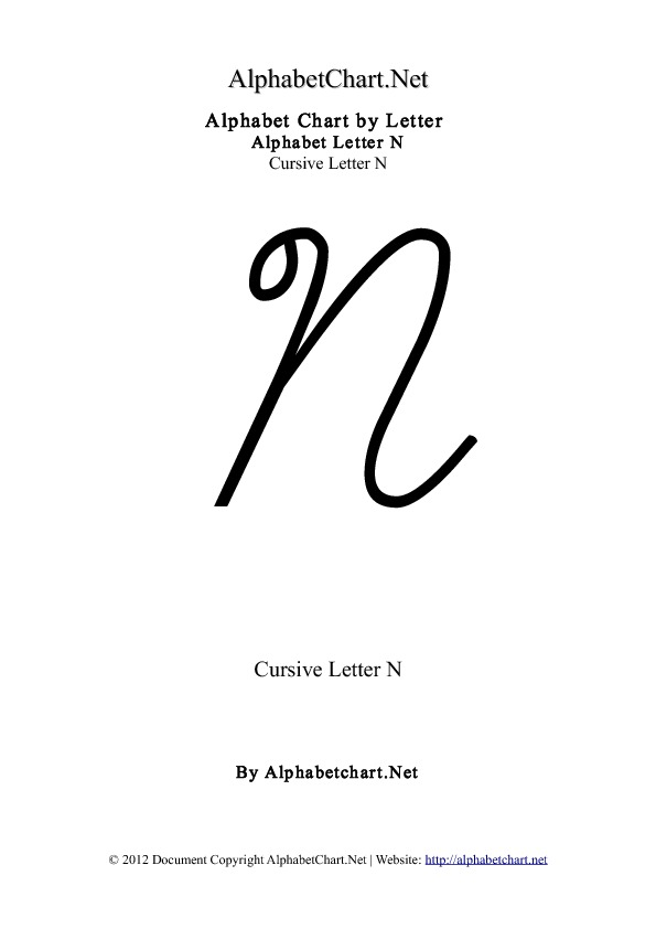 source alphabetchartnet report cursive lowercase n
