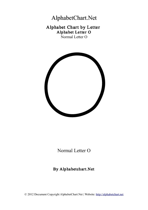 Alphabet O Letter Chart in pdf