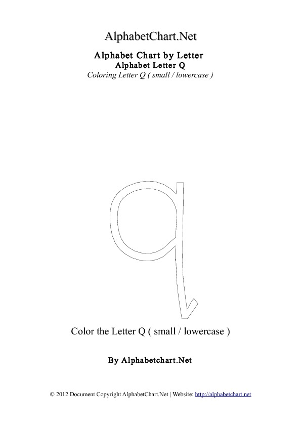 ... Q Coloring Letter ( Small )