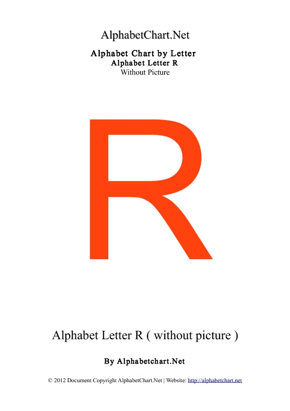 Small Letter Alphabet Chart