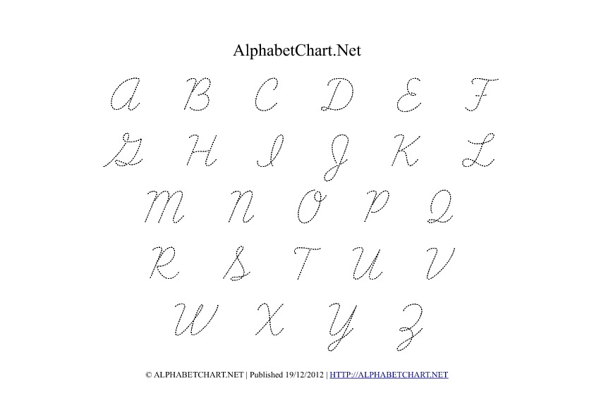 Alphabet Chart Printables For Children Download Free A Pdf Charts
