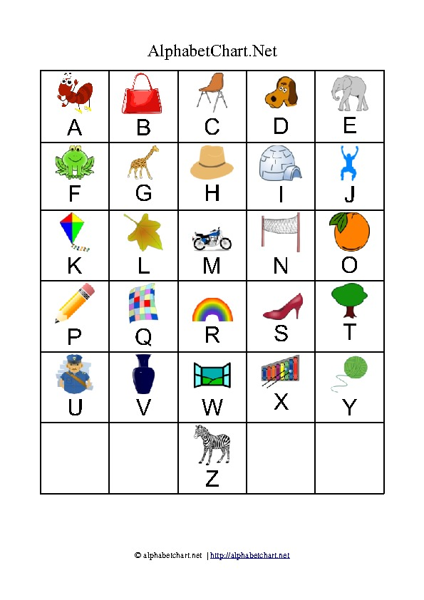 Printable Traceable Alphabet Chart for Upper and Lower ...